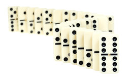 Curve line from dominoes Stock Image