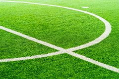 Curve Line of a football soccer training field. Curve Line of an indoor football soccer training field royalty free stock photo