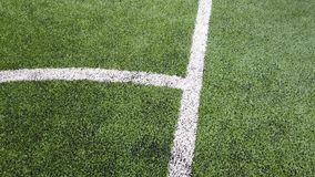 Curve line of indoor football soccer training field stock video footage