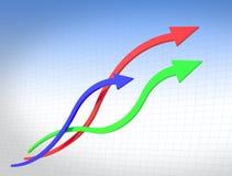 Curve a linha de carta Ilustração Stock