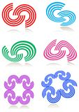 Curve logo set Royalty Free Stock Photos