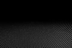 Curve metallic mesh on black background. Royalty Free Stock Photography
