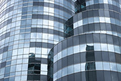 Curve modern glass facade Stock Image