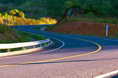 Curve mountain road thailand Royalty Free Stock Image