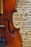 Curve musicali Fotografia Stock