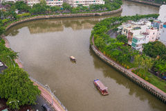 The Curve of Nhieu Loc Canal, Stock Image