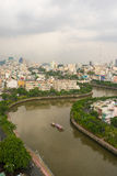 The Curve of Nhieu Loc Canal,. It is the most beautiful canal through many districts of Saigon, Vietnam Stock Photos