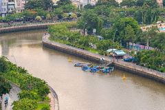 The Curve of Nhieu Loc Canal, Stock Images