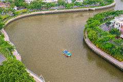 The Curve of Nhieu Loc Canal, Royalty Free Stock Photography