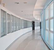 Curve office walkway Stock Photo