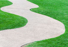 Curve pathway Royalty Free Stock Image
