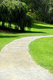 A curve pathway in the park Royalty Free Stock Image