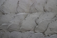 Curve pattern cement wall for background Stock Photos