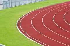Curve of Race Track in Big Football Stadium. At chonburi thailand stock photos