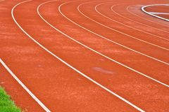 Curve of Race Track in Stadium. Curve of Race Track in Chulalongkorn Stadium stock photography