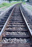 Curve of rail along on the way Stock Photography