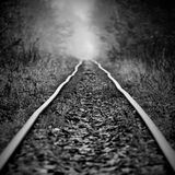 The curve railway. The curve narrow-gauge railway Royalty Free Stock Photo