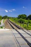 Curve railway track Stock Image