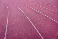Curve of a Red Running Track Stock Image