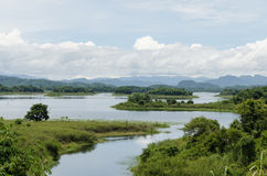 Curve of river. In pompi dam ,thailand Stock Photo