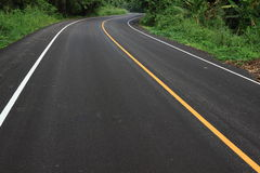Curve road. New curve road go to the national park thailand Royalty Free Stock Image