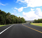 Curve road. New curve road and blue sky Royalty Free Stock Photo