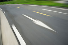 Curve road. Background, motion blur Royalty Free Stock Images