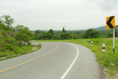 Curve road. Royalty Free Stock Photography