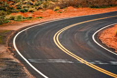 Curve on the road Stock Image