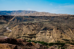 Curve road around a mountains. In Jordan stock images