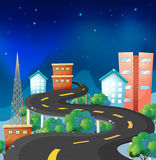 A curve road in the city Royalty Free Stock Image