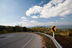 Curve road on the mountain Royalty Free Stock Photography