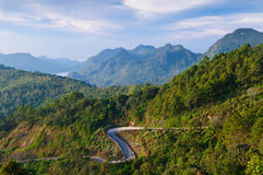 Curve road on the mountain,Thailand Royalty Free Stock Image