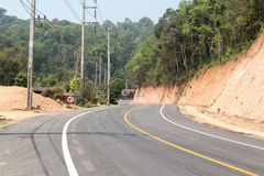 Curve road. And mountain view from Chiangmai to Pai, Northern Thailand Royalty Free Stock Images
