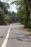 Curve road. And mountain view from Chiangmai to Pai, Northern Thailand Stock Image