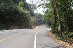 Curve road. And mountain view from Chiangmai to Pai, Northern Thailand Stock Photography