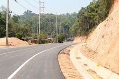 Curve road. And mountain view from Chiangmai to Pai, Northern Thailand Royalty Free Stock Photos
