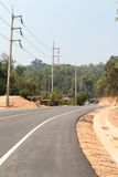 Curve road. And mountain view from Chiangmai to Pai, Northern Thailand Stock Images