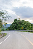 Curve of the road. Road in mountains Royalty Free Stock Image