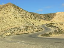 Curve road in mountains Stock Photo