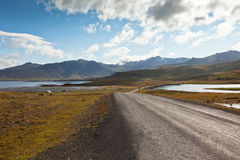 Curve Road at North Iceland Royalty Free Stock Photos