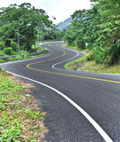 Curve Road On Mountain Royalty Free Stock Photo