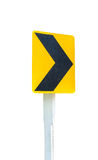Curve road of sign road isolate on white background Royalty Free Stock Image