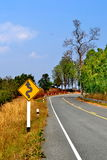 Curve of the road Stock Photography