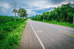 Curve road in Thailand Stock Image