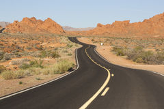Curve road though Valley of Fire, Nevada Royalty Free Stock Image