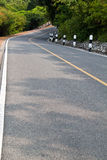 Curve road in valley Royalty Free Stock Images