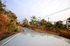 Curve road way. On the mountain , Loei province , Thailand Stock Photo