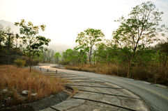 Curve road way. On the mountain , Loei province , Thailand Royalty Free Stock Photos