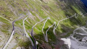 Curve roads in alps stock video